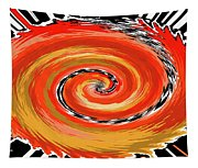 Spiral Of Fire Tapestry