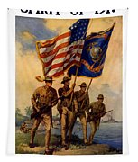 Spirit Of 1917 - Join The Us Marines  Tapestry
