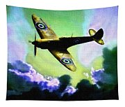 Spitfire In The Clouds H B Tapestry
