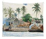 Sponge Fisherman In The Bahama Tapestry