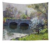 Spring At Delaware Lake Buffalo Tapestry