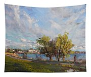 Spring At Gratwick Waterfront Park Tapestry
