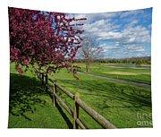 Spring At Rivercut Tapestry