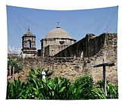Spring At The Mission Tapestry