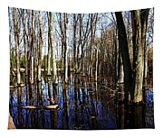 Spring At The Pond Tapestry