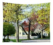 Spring Begins In The Suburbs Tapestry