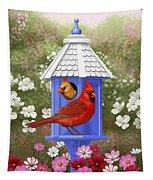 Spring Cardinals Tapestry