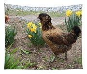 Spring Chicken Tapestry