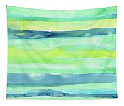 Spring Colors Pattern Horizontal Stripes Tapestry