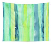 Spring Colors Stripes Pattern Vertical Tapestry