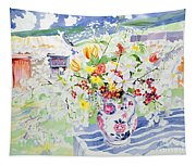 Spring Flowers On The Island Tapestry