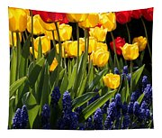Spring Flowers Square Tapestry