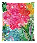 Spring Garden- Watercolor Art Tapestry