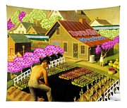Spring In Townville Tapestry