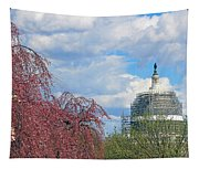 Spring In Washington And Dressed In Scaffolding Tapestry