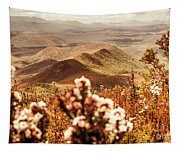 Spring Mountain Blossoms Tapestry