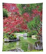 Spring Pond Reflection Tapestry