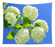 Spring Snowballs Tapestry