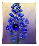 Spring Sunshine On Blue Tapestry