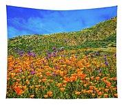 Spring Superbloom In Walker Canyon Tapestry