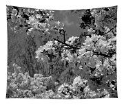 Spring Trees - B And W Tapestry