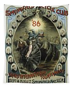 Springfield Bicycle Club 1886 Tapestry