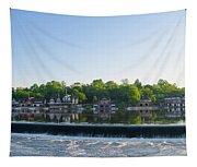 Springtime At Boathouse Row In Philadelphia Tapestry