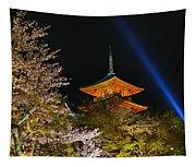 Springtime At Kiyomizu-dera Tapestry