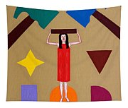 Square Peg Round Hole Tapestry