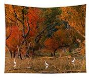 Squaw Creek Egrets Tapestry