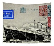 Ss United States - Post Card Tapestry