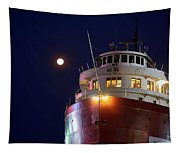 Ss William A Irvin At Night Tapestry