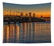 St Augustine Bridge Of Lions Sunset Dsc00433_16 Tapestry