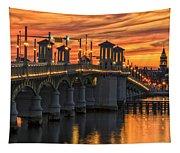 St Augustine Bridge Of Lions Sunset Dsc00565_16 Tapestry