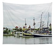 St Augustine Marina From The Water Tapestry