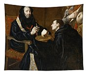 St Benedict Blesses The Bread Tapestry
