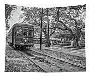 St. Charles Streetcar Monochrome Tapestry