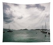 St John - Boats Islands Clouds Tapestry
