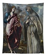St. John The Evangelist And St. Francis Of Assisi Tapestry