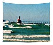 St. Joseph River Lighthouse Tapestry