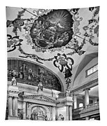 St. Louis Cathedral 2 Monochrome Tapestry