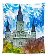 St. Louis Cathedral - Paint Tapestry