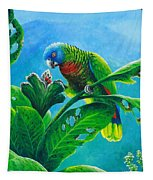 St. Lucia Parrot And Bwa Pain Marron Tapestry