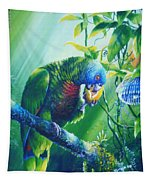 St. Lucia Parrot And Wild Passionfruit Tapestry