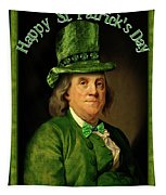 St Patrick's Day Ben Franklin Tapestry