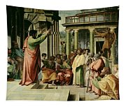 St. Paul Preaching At Athens  Tapestry