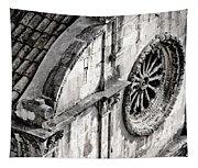 St. Saviour Church Window - Black And White Tapestry