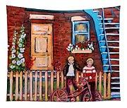 St. Urbain Street Boys Tapestry