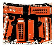 Stacking The Double Deckers Tapestry