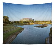 Stadium And Park Panorama Bleach Bypass Tapestry
